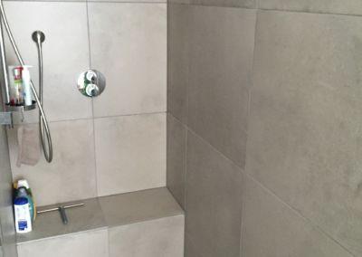 Geflieste Dusche