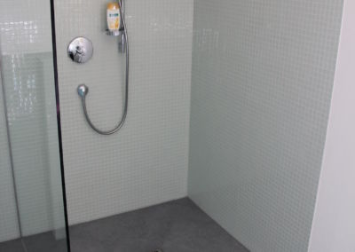 Geflieste Dusche ebenerdig